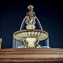 Bordeaux, Place de la bourse fontaine by Sivakumar Inc - Buildings & Architecture Public & Historical