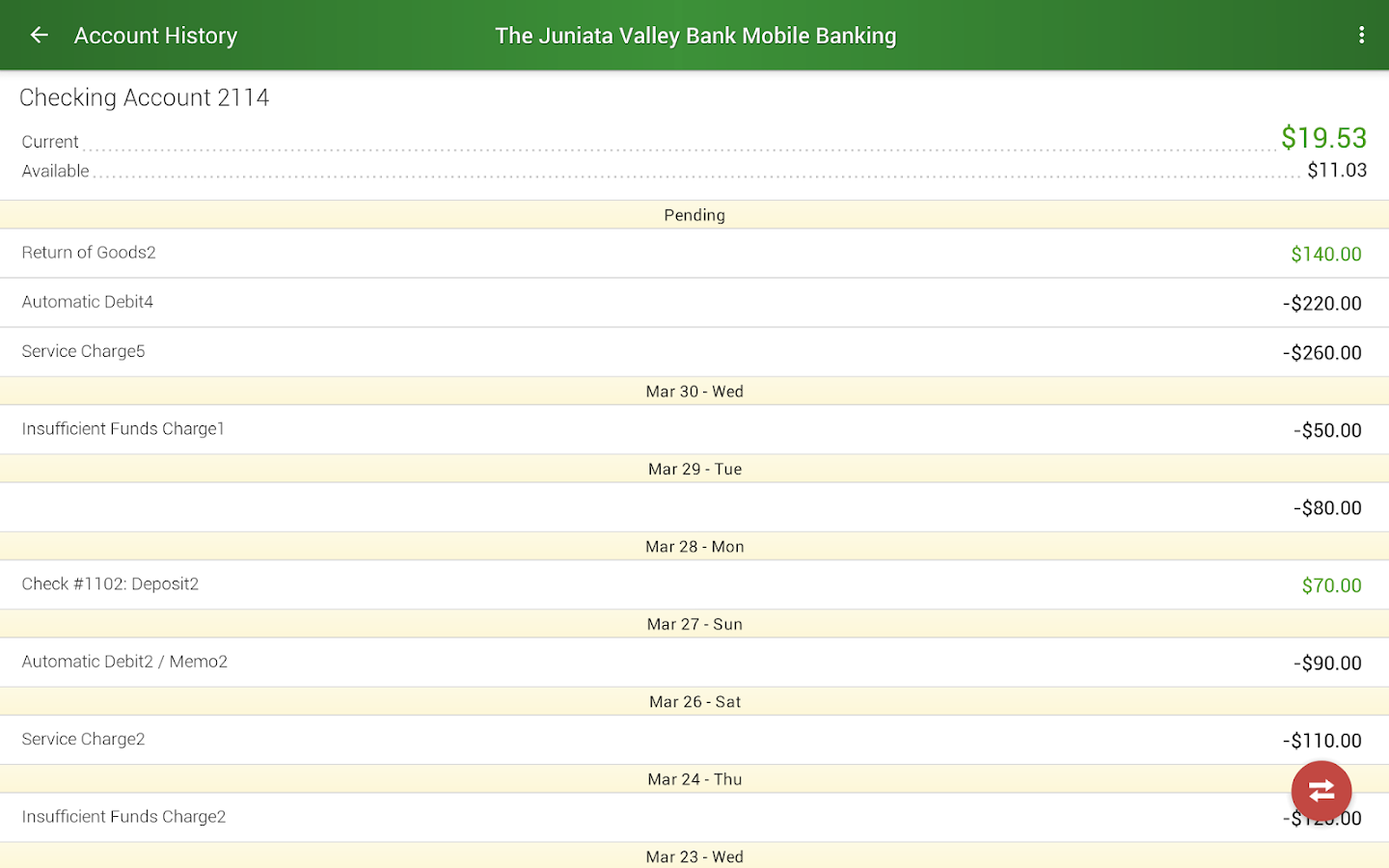 The Juniata Valley Bank- screenshot