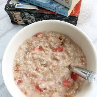 Stewed Rhubarb Porridge.