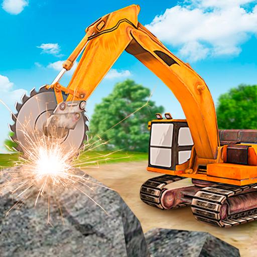 Heavy Excavator  Stone Cutter Simulator