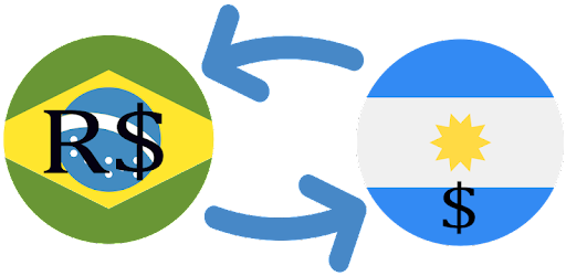 Convert all the currencies in Brazil real and Argentine peso
