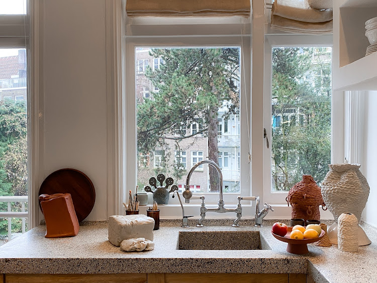 Ceri Müller loves the view from her kitchen/studio.