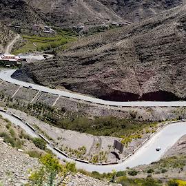 Curves by Richard Michael Lingo - Transportation Roads ( transportation road valley mountain morocco, transportation road, transportation road valley, transportation road valley mountain, transportation )