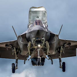 F-35 Lightning hovering  by Ollie Kearsey - Transportation Airplanes