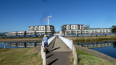 Photo: Bridge over Lake Tuggeranong and new structures