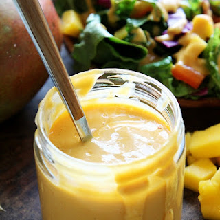 Creamy Mango Chipotle Salad Dressing.