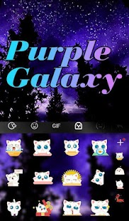 Live Purple Galaxy Keyboard Theme
