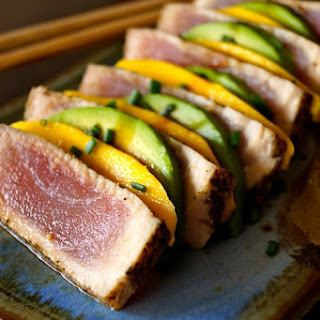 Seared Ahi Tuna Mango-Avocado Appetizer