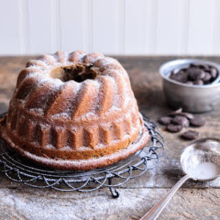 Chestnut Cream Bundt Cake with Chocolate Chips.
