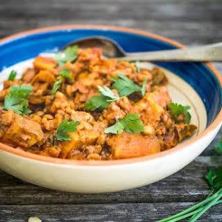Cajun Split Pea & Sweet Potato Stew.