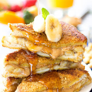Best Ever Peanut Butter Banana French Toast.