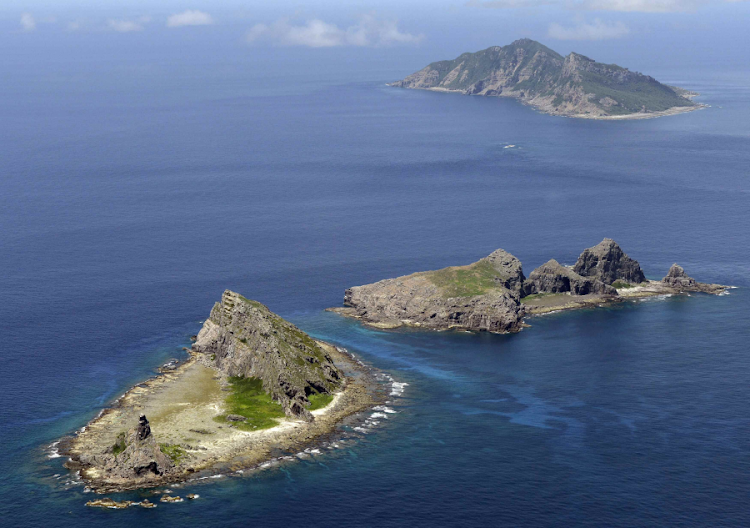 A group of disputed islands known as Senkaku in Japan and Diaoyu in China is seen in the East China Sea. Picture: REUTERS/KYODO