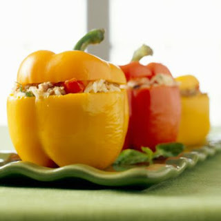 Baked Chicken and Rice Stuffed Peppers