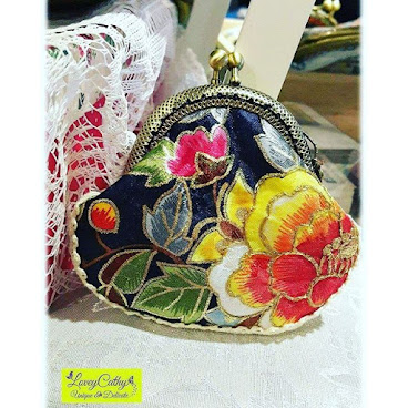 Oriental Beauty 韓式傳統布 6.5cm 小巧口金包 (現貨)