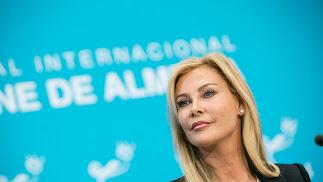 Alison Doody, esta mañana en la Diputación de Almería.