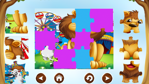 Lion Puzzle Game Free For Kids