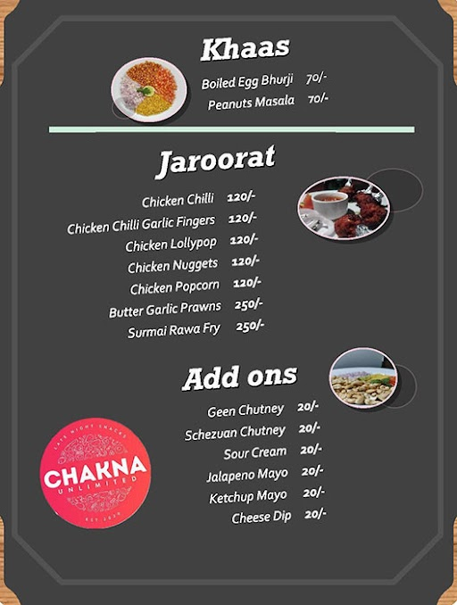 Unlimited Foods Cafe menu 3