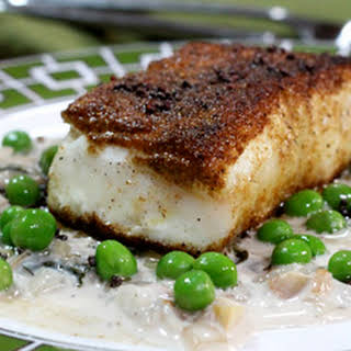 Halibut with Coconut Sauce.