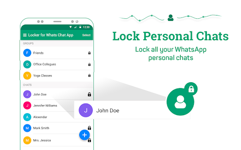 Locker for Whats Chat App - Secure Private Chat Screenshot