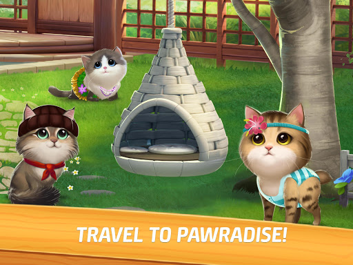 Meow Match: Cats Matching 3 Puzzle & Ball Blast apkpoly screenshots 6