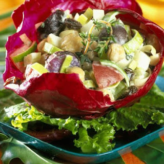 Mixed Vegetable Salad in Cabbage.