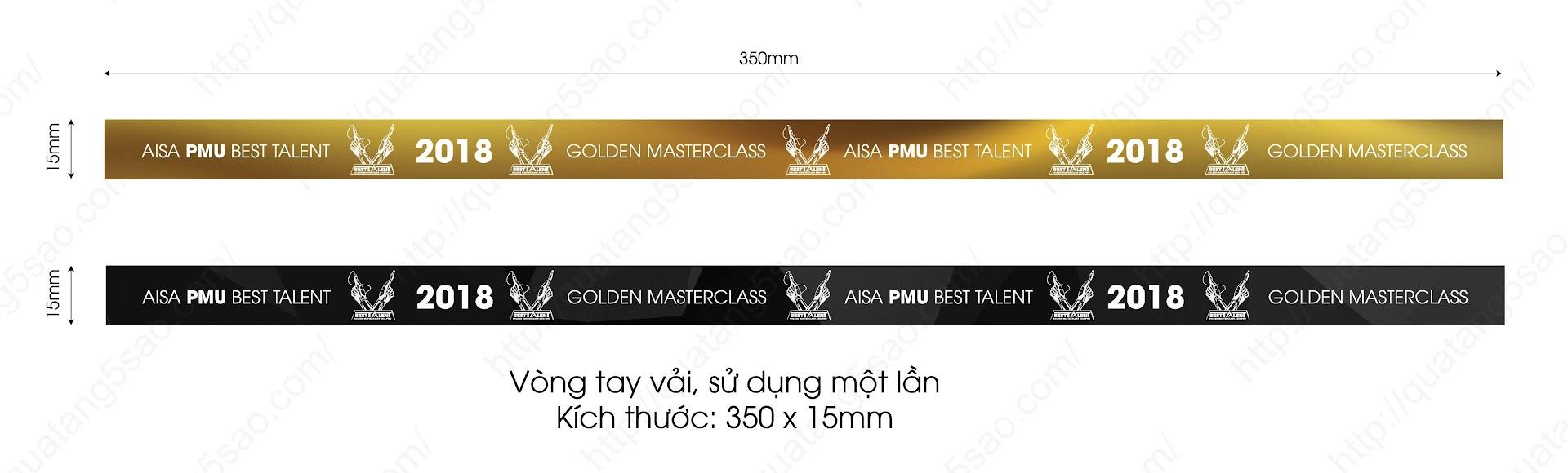 Vòng tay sự kiện của Asia PMU Best Talent - Ảnh file thiết kế vòng tay vải