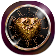 Golden Diamond Clock