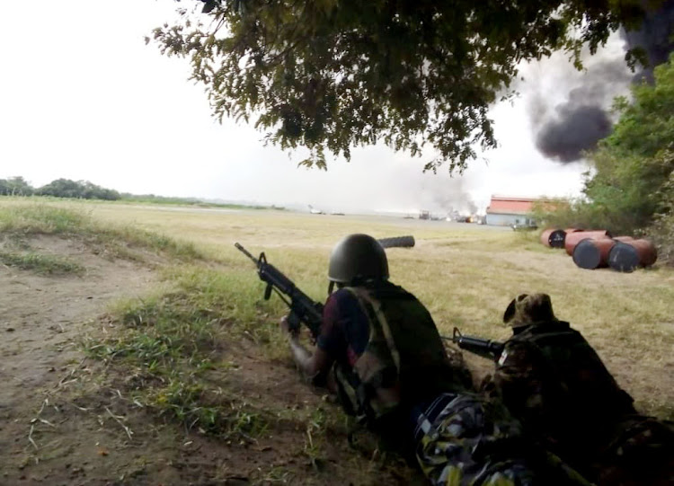 Thick smoke billows during al Shabaab attack on Camp Simba KDF-US military base in Lamu on Sunday. Manda Airstrip was hit.