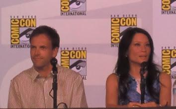 Photo: Thursday - Elementary panel; stars Jonny Lee Miller and Lucy Liu