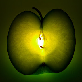 Granny Smith by Nigel Johnson - Artistic Objects Other Objects ( granny smith, lightbulb, green, yellow, internal )
