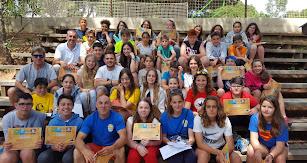 Alumnos durante su viaje a Marbella.