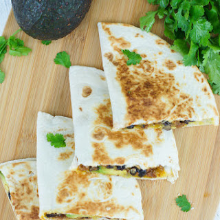 20-Minute Black Beans, Beef and Avocado Quesadillas