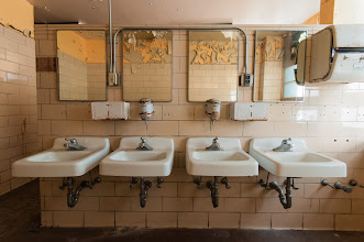 Photo: Employees Must Wash Their Hands Before Returning to Work  On my trip to SF I got the pleasure of exploring some abandoned buildings with +Amy Heiden. What a treat. It's not something I've really done before and wasn't sure what to expect but it gave me a whole new appreciation for those of you that do this type of photography. And to be shooting this place with one of the best abandoned building photographers out there I couldn't have been in better hands. The lighting is different and difficult, the settings are unusual and there is an eeriness to being in an abandoned building because I'm convinced this is where the ghosties live.  #abandonedplaces