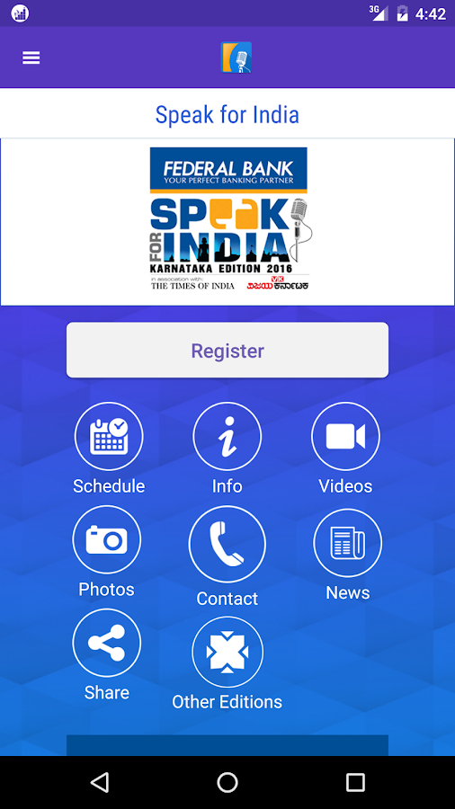 Speak for India - Karnataka- screenshot