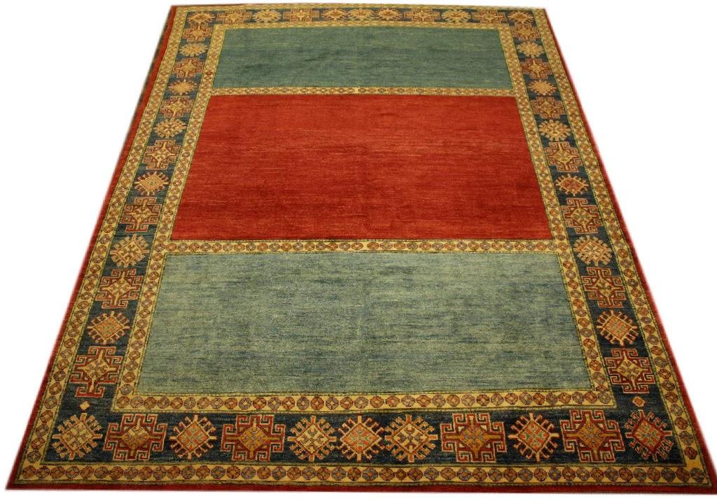 dywan kazak z pakistanu kaukaski perski geometryczny gęsto ręcznie tkany tradycyjny wełna kamieniowana 2x3m