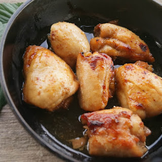 Baked Chicken with Honey and Soy Sauce Glaze.