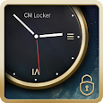 Luxury Clock CM Locker Theme apk