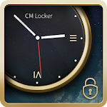 Luxury Clock CM Locker Theme 1.0.0 Apk