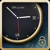 Luxury Clock CM Locker Theme