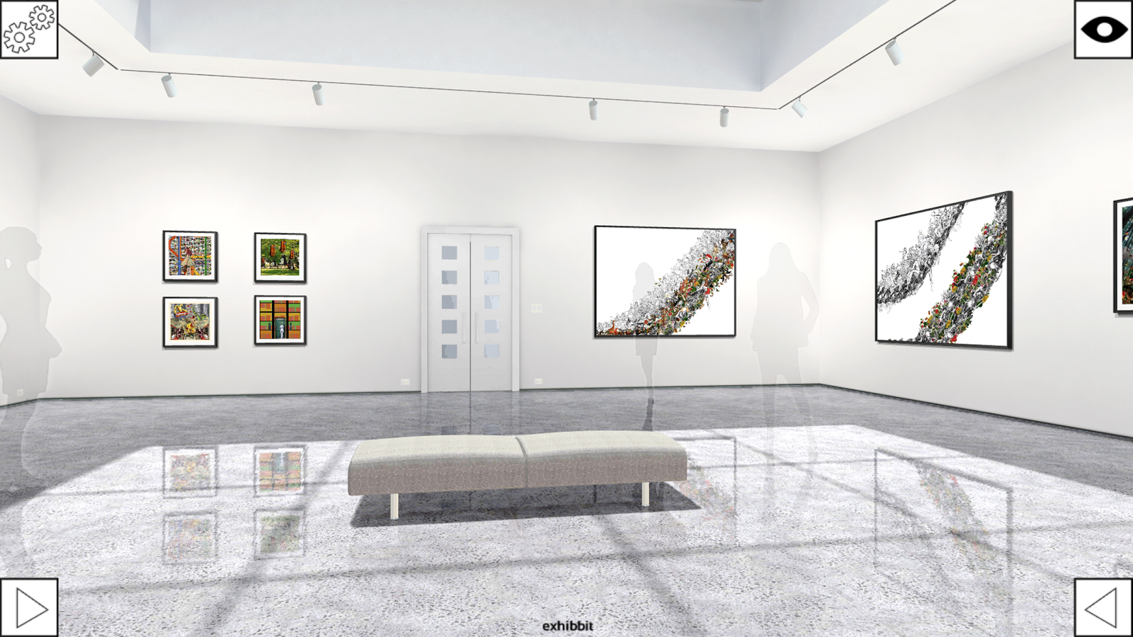 Exhibbit 3d online art gallery- screenshot