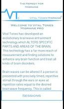 Vital Tones Migraine Pro screenshot thumbnail