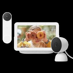 nest hub 2nd gen, nest doorbell, and nest cam.