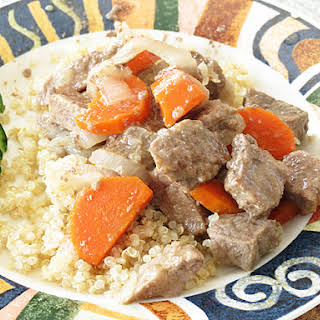 Homemade Beef Stew with Carrots.