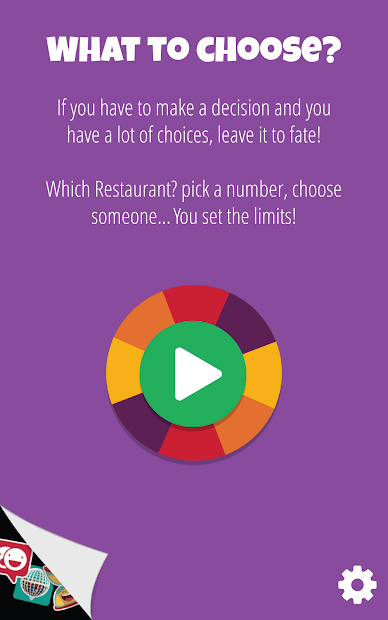 Decision Roulette Android App Screenshot