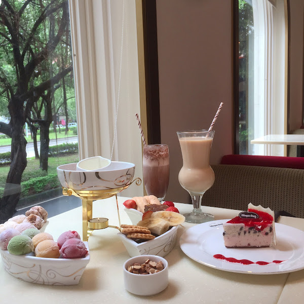 Haagen dazs來場豪華的下午茶吧~~~麻糬冰淇淋巧克力鍋!!!