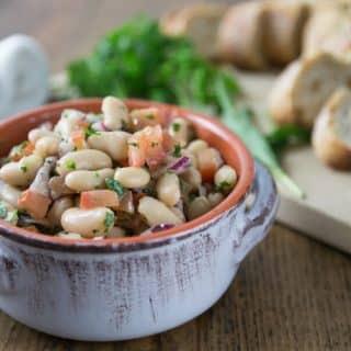 Cannellini Bean, Parsley, Tomato, Red Onion Salsa.