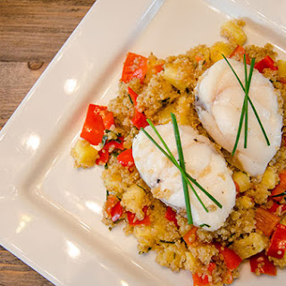 Monkfish with Tropical Quinoa Recipe | Balance.