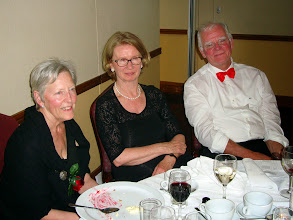 Photo: Hazel Meyer, Mary Nolan and Harry Meyers relaxing after the meal.  That dessert must have been really good!