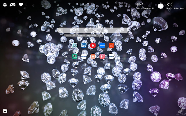 Diamond New Tab Wallpaper Hd Background