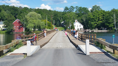 Photo: Swimming and fishing floating bridge close to Allis State Park by Matt Parsons